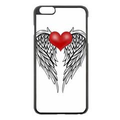 Angel Heart Tattoo Apple Iphone 6 Plus/6s Plus Black Enamel Case