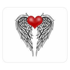 Angel Heart Tattoo Double Sided Flano Blanket (small)