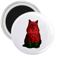 Watermelon Cat 3  Magnets
