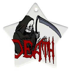 Death   Halloween Star Ornament (two Sides)