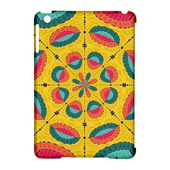 Textured Tropical Mandala Apple Ipad Mini Hardshell Case (compatible With Smart Cover)