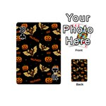 Bat, pumpkin and spider pattern Playing Cards 54 (Mini)  Front - Club10