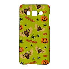 Bat, Pumpkin And Spider Pattern Samsung Galaxy A5 Hardshell Case