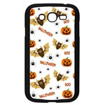 Bat, pumpkin and spider pattern Samsung Galaxy Grand DUOS I9082 Case (Black) Front