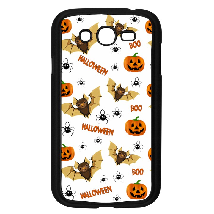 Bat, pumpkin and spider pattern Samsung Galaxy Grand DUOS I9082 Case (Black)