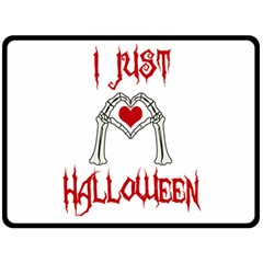 I Just Love Halloween Double Sided Fleece Blanket (large)