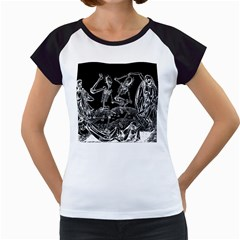 Skeletons   Halloween Women s Cap Sleeve T
