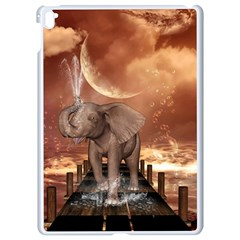 Cute Baby Elephant On A Jetty Apple Ipad Pro 9 7   White Seamless Case