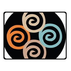 Abroad Spines Circle Double Sided Fleece Blanket (small)