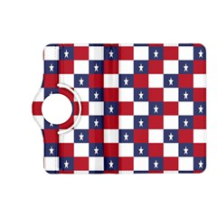 American Flag Star White Red Blue Kindle Fire Hd (2013) Flip 360 Case