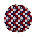 American Flag Star White Red Blue Standard 15  Premium Flano Round Cushions Back