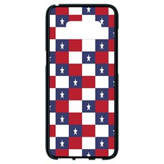 American Flag Star White Red Blue Samsung Galaxy S8 Black Seamless Case