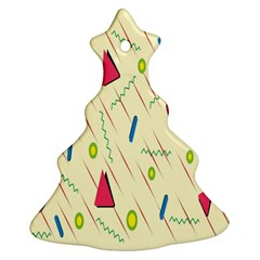 Background  With Lines Triangles Ornament (christmas Tree)