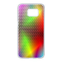 Abstract Rainbow Pattern Colorful Stars Space Samsung Galaxy S7 Edge White Seamless Case