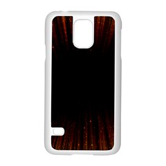 Colorful Light Ray Border Animation Loop Orange Motion Background Space Samsung Galaxy S5 Case (white)