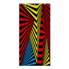 Door Pattern Line Abstract Illustration Waves Wave Chevron Red Blue Yellow Black Shower Curtain 36  X 72  (stall)