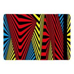 Door Pattern Line Abstract Illustration Waves Wave Chevron Red Blue Yellow Black Apple Ipad Pro 10 5   Flip Case