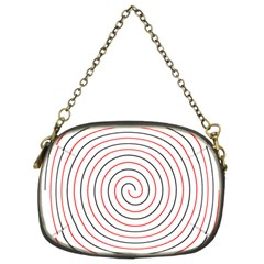 Double Line Spiral Spines Red Black Circle Chain Purses (two Sides)