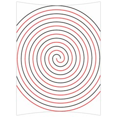 Double Line Spiral Spines Red Black Circle Back Support Cushion