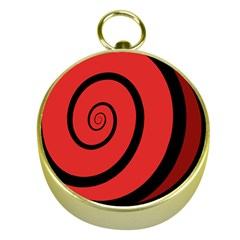 Double Spiral Thick Lines Black Red Gold Compasses