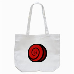 Double Spiral Thick Lines Black Red Tote Bag (white)