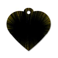 Colorful Light Ray Border Animation Loop Yellow Dog Tag Heart (two Sides)