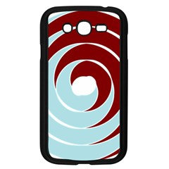 Double Spiral Thick Lines Blue Red Samsung Galaxy Grand Duos I9082 Case (black)