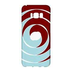 Double Spiral Thick Lines Blue Red Samsung Galaxy S8 Hardshell Case