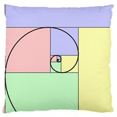 Golden Spiral Logarithmic Color Standard Flano Cushion Case (two Sides)