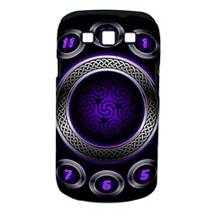 Digital Celtic Clock Template Time Number Purple Samsung Galaxy S Iii Classic Hardshell Case (pc+silicone)