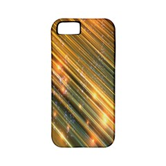 Golden Blue Lines Sparkling Wild Animation Background Space Apple Iphone 5 Classic Hardshell Case (pc+silicone)