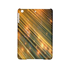 Golden Blue Lines Sparkling Wild Animation Background Space Ipad Mini 2 Hardshell Cases
