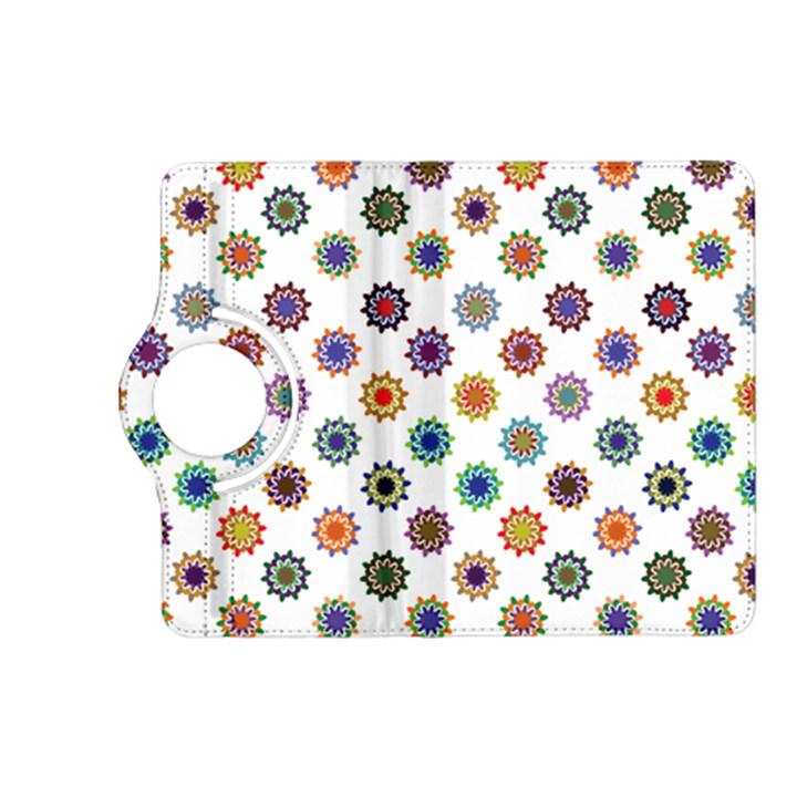 Flowers Pattern Recolor Artwork Sunflower Rainbow Beauty Kindle Fire HD (2013) Flip 360 Case