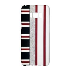 Line Streep Vertical Horizontal Samsung Galaxy S8 Hardshell Case
