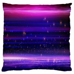 Massive Flare Lines Horizon Glow Particles Animation Background Space Standard Flano Cushion Case (two Sides)