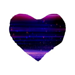 Massive Flare Lines Horizon Glow Particles Animation Background Space Standard 16  Premium Flano Heart Shape Cushions