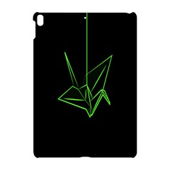 Origami Light Bird Neon Green Black Apple Ipad Pro 10 5   Hardshell Case