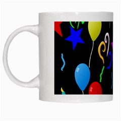 Party Pattern Star Balloon Candle Happy White Mugs