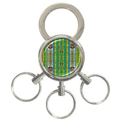 Rainbows Rain In The Golden Mangrove Forest 3 Ring Key Chains