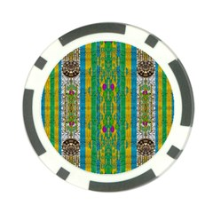 Rainbows Rain In The Golden Mangrove Forest Poker Chip Card Guard (10 Pack)