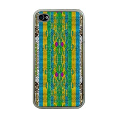 Rainbows Rain In The Golden Mangrove Forest Apple Iphone 4 Case (clear)