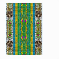 Rainbows Rain In The Golden Mangrove Forest Large Garden Flag (two Sides)