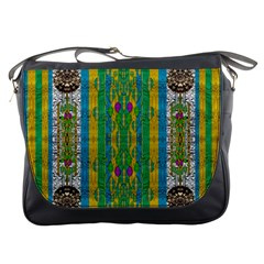 Rainbows Rain In The Golden Mangrove Forest Messenger Bags