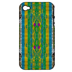 Rainbows Rain In The Golden Mangrove Forest Apple Iphone 4/4s Hardshell Case (pc+silicone)