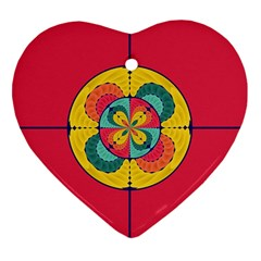 Color Scope Heart Ornament (two Sides)