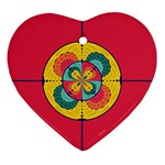 Color scope Heart Ornament (Two Sides) Back