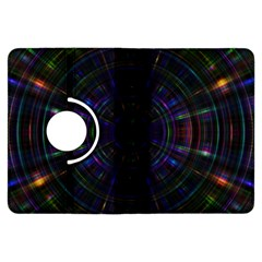Psychic Color Circle Abstract Dark Rainbow Pattern Wallpaper Kindle Fire Hdx Flip 360 Case