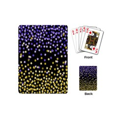 Space Star Light Gold Blue Beauty Playing Cards (mini)