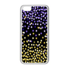 Space Star Light Gold Blue Beauty Apple Iphone 5c Seamless Case (white)