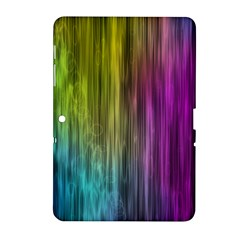 Rainbow Bubble Curtains Motion Background Space Samsung Galaxy Tab 2 (10 1 ) P5100 Hardshell Case